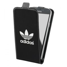 Comme on aime on ne compte pas... Voici la housse clapet Samsung galaxy s5 noire logo blanc !