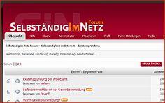 Selbständig im Netz Forum  informatives Blog