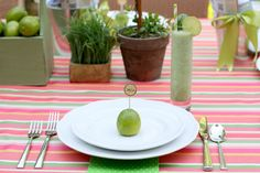 limes make a simple place card for parties