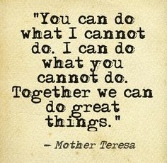 Quote by Mother Teresa (image courtesy of @Pinstamatic)