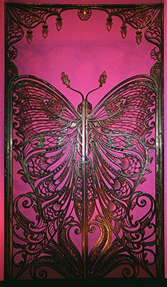 Incredible Art Nouveau Butterfly Door at the Brooklyn Museum of Art.
