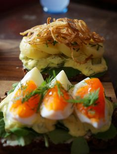 "From the ""Blow up Food"" blog  This Easter Sunday we made Smørrebrød - Danish Open Sandwiches."