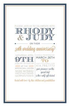 50th wedding anniversary invitation wording mom dad s 50th