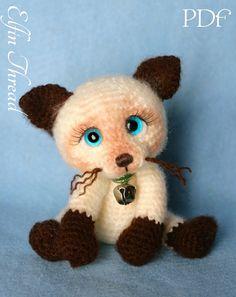 Elfin Thread Siamese Kitty / Cat Amigurumi PDF by ElfinThread