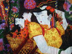 Vintage silk GEISHA blouse ladies shirt CHICO'S by DelicateRetro