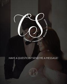 Wedding Planner Logo Calligraphy, Circle Logo Design Premade Branding, Event…