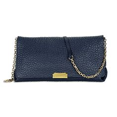 Burberry Medium Signature Blue Leather Clutch Cross-body Women's Bag