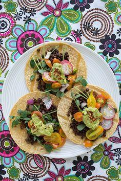 Lentil Tacos with Tomato Radish Salsa  |  Chez Us
