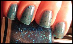 pretty blue squishy glittery polish...  By Aphrodite Lacquers on Etsy