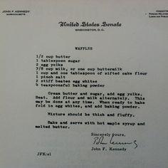 JFK's Waffles, Adlai's Pie, Humphrey's Soup and 13 More Political Recipes