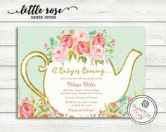 A Baby is Brewing Baby Shower Tea Party by LittleRoseStudio