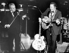 Senator Robert-C-Byrd, on stage with Roy Clark.