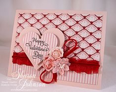 Ruby Valentine Hugs and Kisses stamp set by JustRite...by notimetostamp - Cards and Paper Crafts at Splitcoaststampers
