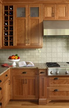 kitchen - like the colors of the cabinets, counter and backsplash