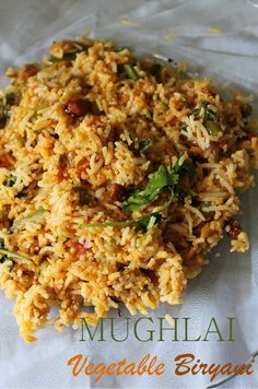 YUMMY TUMMY: Mughlai Vegetable Biryani Recipe / Mughlai Veg Biryani Recipe