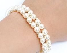 Your place to buy and sell all things handmade : Grey Pearl Bracelet Bridal Bracelet Wedding Jewelry 3 Strand Cuff Bracelet… Pearl Jewelry, Wedding Jewelry, Beaded Jewelry, Jewelry Bracelets, Handmade Jewelry, Pearl Bracelets, Pearl Rings, Pearl Necklaces, Geek Jewelry