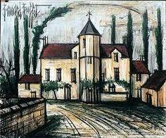 Bernard Buffet - The Manor Unique Buildings, City Buildings, Jean Leon, Francis Picabia, Monuments, Paris Ville, Building Art, Buffets, Magazine Art