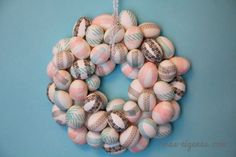DIY Eierkranz  #Osterdekoration  DIY egg-wreath #easter-decoration #tutorial