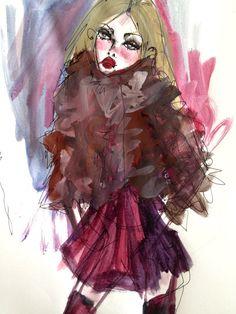 Ox Blood Fur by blondelasagna on Etsy