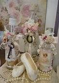 decorated bottles shabby chic - Bing Images