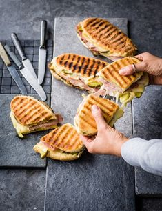 The Cubano sandwich Cuban Sandwich Recipe This is an iconic food-truck sandwich in the US using Cuban mojo pork. It take a while to make but it's a great casual entertaining idea Cuban Pork Sandwich, Kubanisches Sandwich, Cubano Sandwich, Deli Sandwiches, Best Sandwich Recipes, Cuban Meat Recipe, American Sandwich Recipes, Cuban Food Recipes, Cuban Sliders