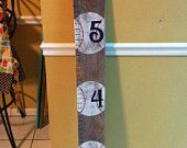 Hand Painted 44 Wooden Baseball Ruler Growth by LuluontheBayou