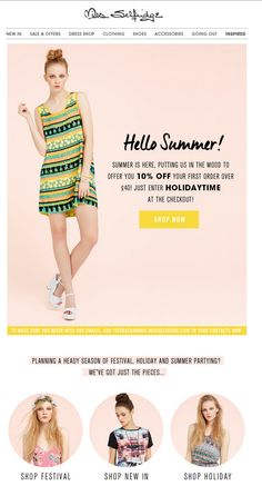 Welcome email from Miss Selfridge  | welcome | WelcomeEmails | emailmarketing…