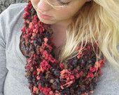 Forever Fall - Cream Colored Infinity Scarf, Crochet Chain Infinity Scarf, Crochet Scarf. $20.00, via Etsy.