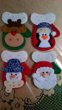 me ~ 12 pcs Christmas Decoration 2017 Cutlery Suit Silverware Holders Pockets Knifes Forks Bag Christmas Gift Bags, Felt Christmas Ornaments, Handmade Christmas, Christmas Crafts, Christmas Projects, Felt Crafts, Holiday Crafts, Christmas Applique, Christmas Sewing