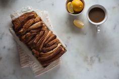 Lemon brioche pull-apart bread recipe with lemon glaze.