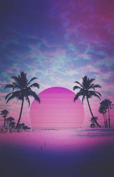 vaporwave art OC:Eric Weidner Project-C - vaporwave New Retro Wave, Retro Waves, Neon Wallpaper, Wallpaper Backgrounds, Vaporwave Wallpaper, Vaporwave Art, Japon Illustration, Neon Aesthetic, Photo Wall Collage