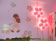 Ikea smila blomma childrens wall lamp pink flower httpamazon ikea flower lights for bellas room aloadofball Images