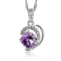 Honeystore Girl's Zircon Accent Natural Amethyst S925 Sterling Silver Necklace Color Purple Honeystore,http://www.amazon.com/dp/B00DFX6LQQ/ref=cm_sw_r_pi_dp_Sdngsb1H2Y3M4G4A