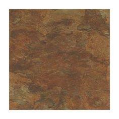 """Peel-n-stick"" vinyl tiles for kitchen floor & backsplash...Home Dynamix Madison 12'' x 12'' Vinyl Stone Tiles (Set of 9)"