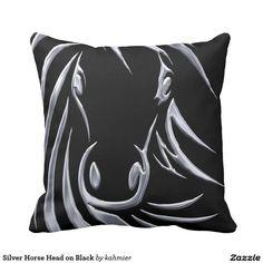 Silver Horse Head on