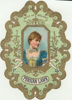 Vintage Fabric Label~~Note hair and dress Vintage Labels, Vintage Ephemera, Vintage Ads, Vintage Images, Vintage Pictures, Vintage Designs, Vintage Websites, Presentation Pictures, Victorian Valentines