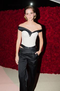 Emma Watson in Calvin Klein Collection at the 2016 Met Gala.