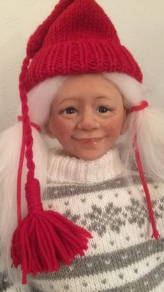 Handmade by Gerd Asphaug, Norway Christmas Gnome, Gnomes, Norway, Winter Hats, Handmade, Fashion, Hand Made, Moda, Craft