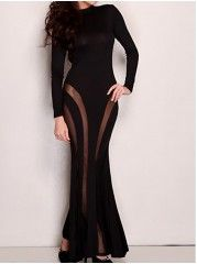 Designed Party  Long Sleeve Blended  Party-dress