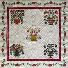 Georgann Wrinkle's quilt top, quilted by Sue Garman (see my separate board for more of Sue's quilts - PL)