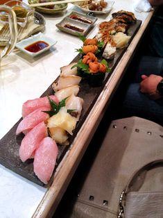 Otoro, Awabi, Uni, Anago, and Unagi at Gion Kappa Restaurant in Kyoto, Japan