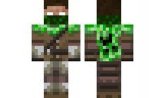 minecraft skin herobrine-creeper-hunter. Best skin ever!