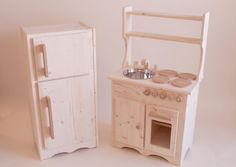 Wooden Play Kitchen & Fridge Set. Get your orders in now for Christmas!