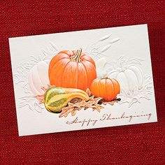 Autumn Tradition Thanksgiving Card