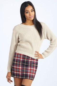 Tartan is trending everywhere this fall/winter! You can combine this tartan skirt with over the knee boots shirt or jumper. Rose Magenta Tartan Mini Skirt at boohoo.com #fall/winter #style #tartan #trending