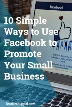 """From its powerful way of connecting businesses with customers to its various advertising options, there is no denying the benefits of using Facebook to promote your small business.  According to Jake McKenzie of Auto Accessories Garage, """"Having a Facebook page helps to legitimize your business in the customer's eye.""""  Simply put, a business without a Facebook page is deemed outdated or untrustworthy. That said, here are ten ways on how you can use Facebook to promote your small business. Promote Facebook Page, Best Facebook Pages, Business Facebook Page, Facebook Marketing, Media Marketing, Online Marketing, Digital Marketing, Advertise My Business, Best Way To Advertise"""