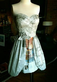 Newspaper dress love the top