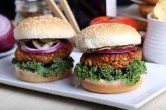Sweet Potato, Farro and Walnut Burger | Olives For Dinner