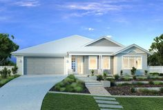 Find 4 bedroom house plans in VIC. Refine the search and discover the best 4 bedroom home designs & floor plans for your dream home. Porch House Plans, 4 Bedroom House Plans, Hamptons Style Homes, Hamptons House, Weatherboard House, Queenslander, House Plans Australia, Affordable House Plans, French Country House Plans