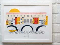 Beautiful Florence illustration! ---Florence seasonal release by albiedesigns on Etsy, $35.00